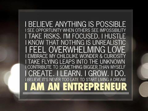I am an entrepreneur.